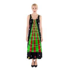 Xmas tree  Sleeveless Maxi Dress