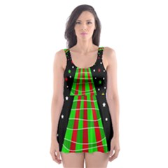 Xmas tree  Skater Dress Swimsuit