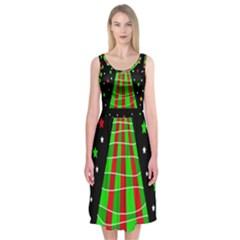 Xmas tree  Midi Sleeveless Dress