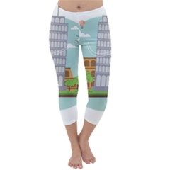 Roma Landmark Landscape Italy Rome Capri Winter Leggings