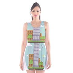 Roma Landmark Landscape Italy Rome Scoop Neck Skater Dress