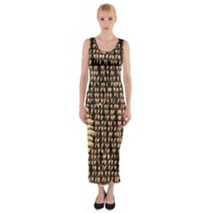 Rope Fabric Canvas Color Lana Fitted Maxi Dress