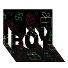 Xmas gifts BOY 3D Greeting Card (7x5)