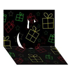 Xmas gifts Apple 3D Greeting Card (7x5)