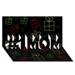 Xmas gifts #1 MOM 3D Greeting Cards (8x4)