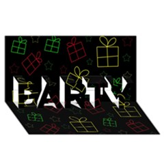 Xmas gifts PARTY 3D Greeting Card (8x4)