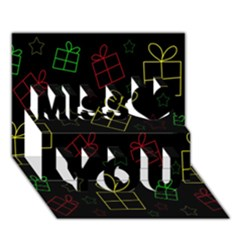 Xmas gifts Miss You 3D Greeting Card (7x5)