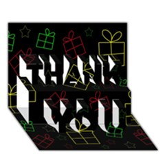Xmas gifts THANK YOU 3D Greeting Card (7x5)