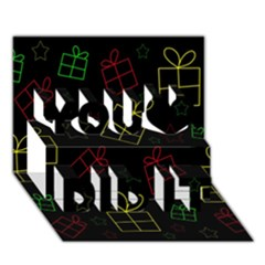 Xmas gifts You Did It 3D Greeting Card (7x5)