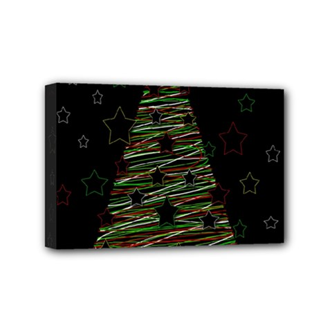 Xmas tree 2 Mini Canvas 6  x 4