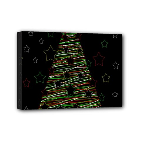 Xmas tree 2 Mini Canvas 7  x 5