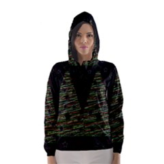 Xmas tree 2 Hooded Wind Breaker (Women)