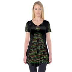 Xmas tree 2 Short Sleeve Tunic