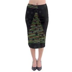 Xmas tree 2 Midi Pencil Skirt
