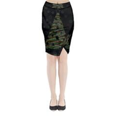Xmas tree 2 Midi Wrap Pencil Skirt