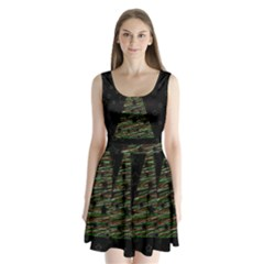 Xmas tree 2 Split Back Mini Dress