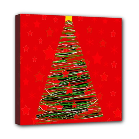 Xmas tree 3 Mini Canvas 8  x 8