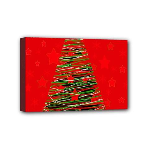 Xmas tree 3 Mini Canvas 6  x 4