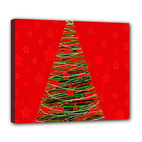 Xmas tree 3 Deluxe Canvas 24  x 20