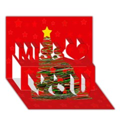 Xmas tree 3 Miss You 3D Greeting Card (7x5)
