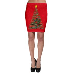 Xmas tree 3 Bodycon Skirt