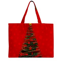 Xmas tree 3 Medium Zipper Tote Bag