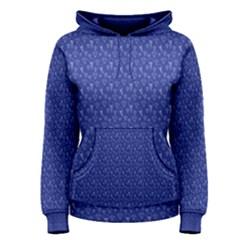 Diamonds And Icecream On Blue Women s Pullover Hoodie