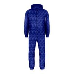 Diamonds And Icecream On Blue Hooded Jumpsuit (kids)