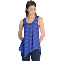 Diamonds and Icecream On Blue Sleeveless Tunic