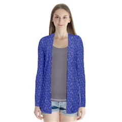 Diamonds and Icecream On Blue Drape Collar Cardigan