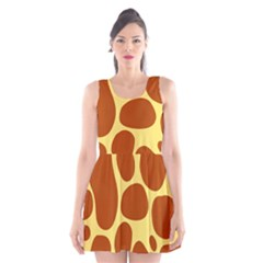 Seamless Tile Background Abstract Scoop Neck Skater Dress