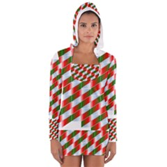 Shiny Floating Suspended Suspension Women s Long Sleeve Hooded T-shirt