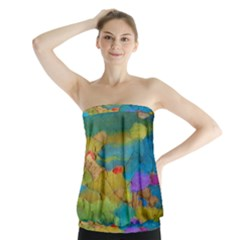 Space Bark Color Background Strapless Top