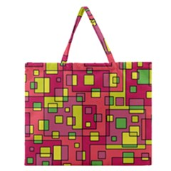 Square Background Background Texture Zipper Large Tote Bag