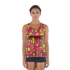 Square Background Background Texture Women s Sport Tank Top