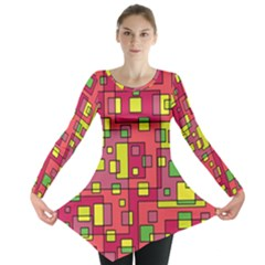 Square Background Background Texture Long Sleeve Tunic