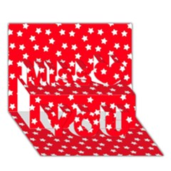 Star Christmas Miss You 3D Greeting Card (7x5)