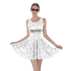 Diamonds And Icecream On White Skater Dress