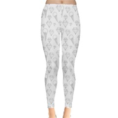 Diamonds and Icecream On White Leggings