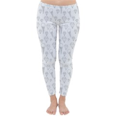 Diamonds and Icecream On White Winter Leggings