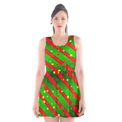 Star Sky Graphic Night Background Scoop Neck Skater Dress
