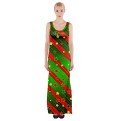 Star Sky Graphic Night Background Maxi Thigh Split Dress