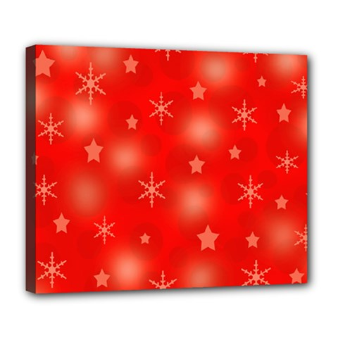 Red Xmas desing Deluxe Canvas 24  x 20