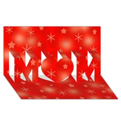 Red Xmas desing MOM 3D Greeting Card (8x4)