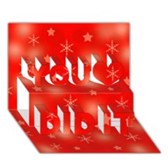 Red Xmas desing You Did It 3D Greeting Card (7x5)