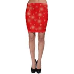 Red Xmas desing Bodycon Skirt