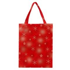 Red Xmas desing Classic Tote Bag