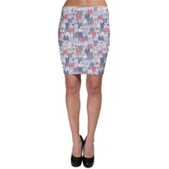 Cats Family  Bodycon Skirt