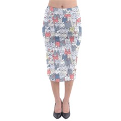 Cats Family  Midi Pencil Skirt