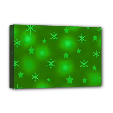 Green Xmas design Deluxe Canvas 18  x 12